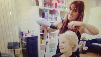 Liz, lead hairstylist at Premier Hair in Allwoodley and North Leeds